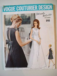 Vintage Pattern 1960s Vogue Couturier 2112 by RetroHomeGoods, $45.00 #60s #retro #vintage