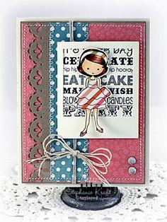 Eat Cake Card by Stephanie Kraft #GraphicGreetings, #Moka, #Birthday, #Cardmaking