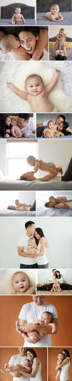 fab poses for 6 months with parents  Will someone please come take these photos for me and Simon?!?!
