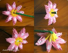 Оригами из модулей чайный сервиз