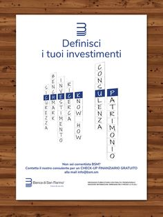 Campagna pubblicitaria Check-Up Finanziario. Direzione artistica e creazione layout grafico.