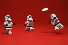"""""""May the Force be with you..."""" Ultimate and Stormtroopers - a pun destined to be."""