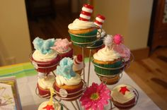 Amazing Dr. Seuss cupcake tree!