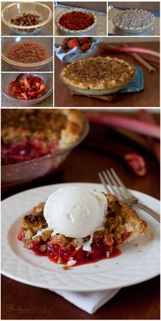 The best Strawberry Rhubarb Pie - recipe at BarbaraBakes.com