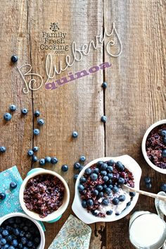 Blueberry Quinoa | Delicious, gluten-free breakfast | FamilyFreshCooking.com | by @Marla Landreth Meridith