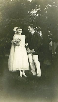 Hemingway and his first wife, Hadley, on their wedding day in 1921