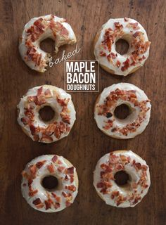 Baked Maple Bacon Doughnuts