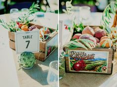 veggie and fruit tablescapes