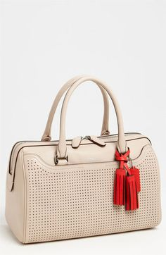 COACH 'Legacy - Haley' Perforated Leather Satchel | Nordstrom