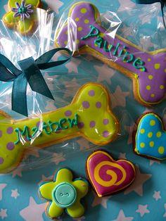 Dog bone cookies by nice icing, via Flickr