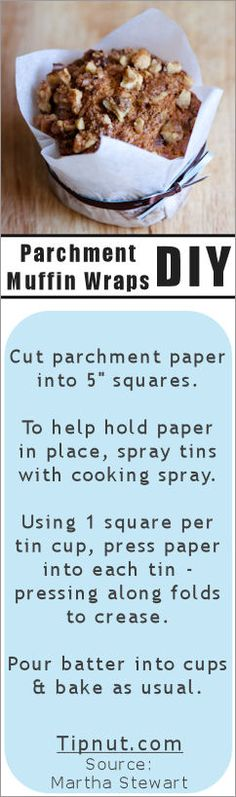 DIY Parchment Muffin Wraps!