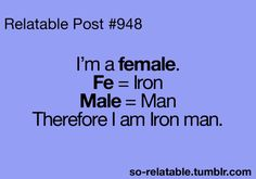 For all you Iron Men out there.