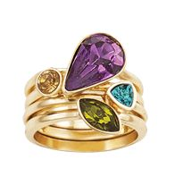 Beautiful Jewel-Tone Collection Stackable Ring Set : Sale $9.99