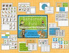 """""""Rainforest Fun"""" Literacy & Math Center"""