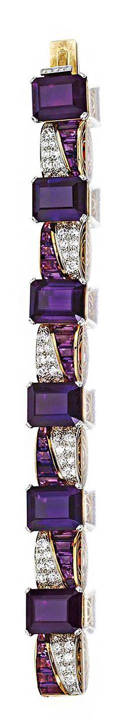 Diamond and Amethyst Bracelet