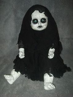 OOAK Horror / Gothic / Vampire Baby Doll - Halloween Prop - Decoration | eBay