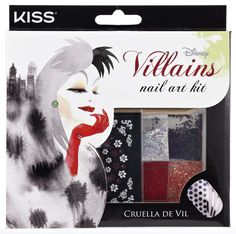 Disney Villains Nail Art Kit By #KissProducts - Cruella