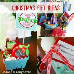 Christmas gift ideas for just about everyone...teachers, friends, family, host/hostess...