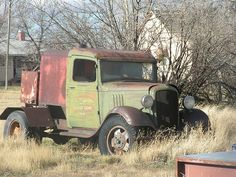 abandoned truck