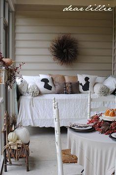 dear lillie's fall porch