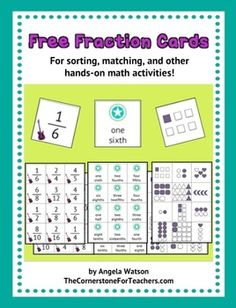 Fraction cards - FREE
