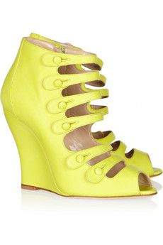 Oscar de la Renta Dakota Wedges: Such a fun, bright pop of color and interesting silhouette!