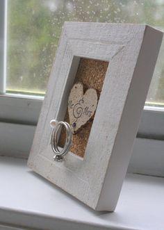 Wedding Ring Holder Frame - Rustic - Shabby Chic - Unique Gift on Etsy, $19.95
