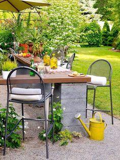 Outdoor kitchen space