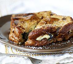Blueberry stuffed french toast  (Panera)