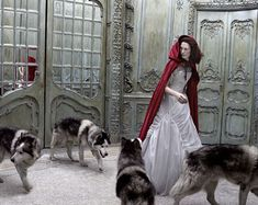 wedding dressses, little red, red riding hood, red hood, fairy tales, eugenio recuenco, fashion photography, photo shoots, fashion shoots