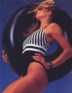 Elle US, January 1989  Photographer : Gilles Bensimon  Model : Rachel Williams Uploaded by 80s-90s-supermodels.tumblr.com