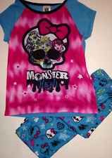 MONSTER HIGH GIRLS PAJAMAS SET NEW CAPRI STYLE   Multiple sizes available along with combined shipping