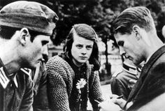 Sophie & Hans Scholl, their friend Christoph Probst, and several others were members of the White Rose, a group Hans and three fellow medical students founded to declare opposition to the Hitler regime and rally the resistance movement. They were subsequently imprisoned, tried, and executed in February 1943.