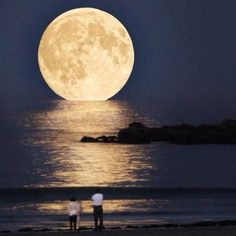 Under the moon. It began and ended. I love you.