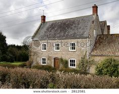 English farmhouse with hedges