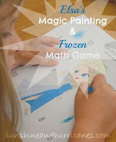 Elsa's Magic Painting & Frozen Math Game sunshineandhurricanes.com