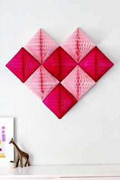 DIY: honeycomb heart