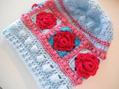 Apple Blossom Dreams: Stash-Buster #2 - Granny Rose Slouchy Hat