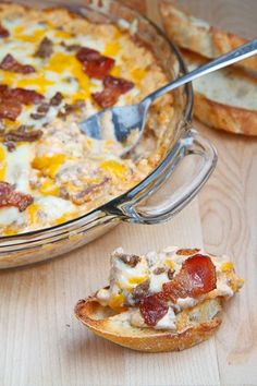 Bacon double cheeseburger dip.  OR...You will have a heart attack if you eat this.