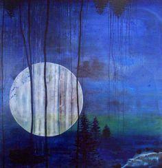 "Saatchi Online Artist Tanja Vetter; Painting, ""Moonshine"""