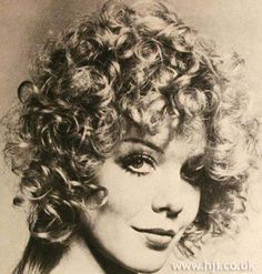 1971 long curls hairstyle Long hair was permed to jaw length leaving ...