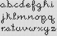 Hardcore StitchCorps: Cross-stitch alphabet