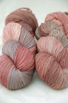 Milly High Twist Sock Yarn - Rosewood ~ Juno Fibre Arts (UK)....Love this color combo