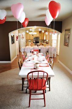 idea, heart balloon, valentine day, parties, valentine decorations, valentin parti, valentines day party, kid, valentine party