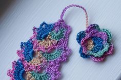 Crocheted Bookmark by MossyOwls, via Flickr
