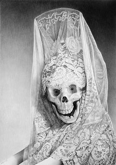 The macabre art of Laurie Lipton.  Pencil & charcoal.