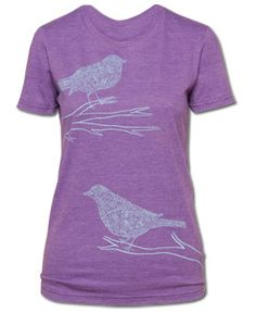 SoulFlower-Jazzy Birds Recycled T-Shirt-$26.00