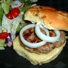 Greek Burgers. LOVE lamb burgers