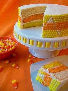 Candy Corn Cake holiday, bird, candi corn, food, candy corn, candies, corn cakes, candycorn, halloween
