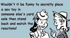 Yard Sale Humor #yardsale #funny #comic